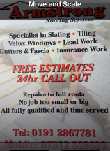 U0027Armstrong Roofing Servicesu0027 Are A U0027Checked And Vettedu0027 Approved Company  Based In Newcastle.